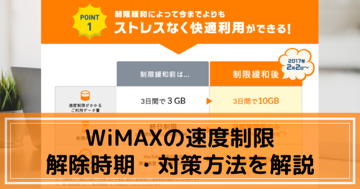 WiMAXの速度制限-解除時期・対策方法を解説!のコピーのコピー