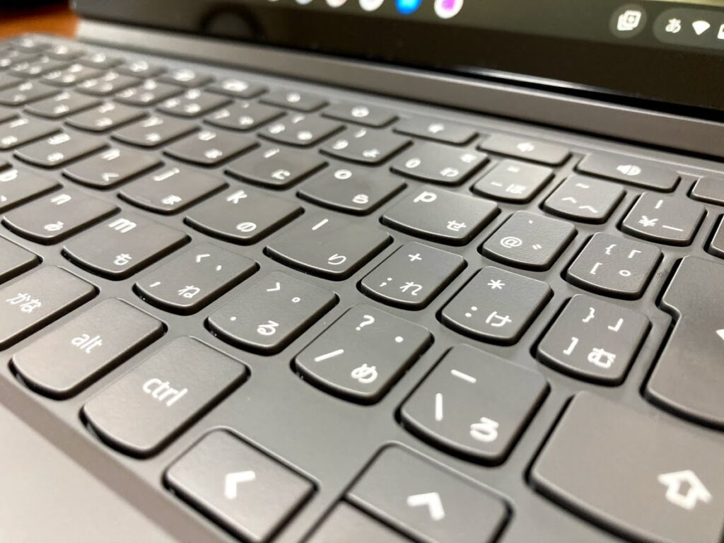 LenovoのIdeaPad Duet Chromebookのキーボード