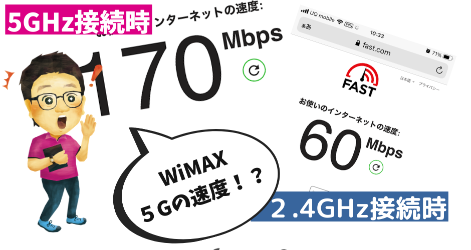 WiMAX5G実測値