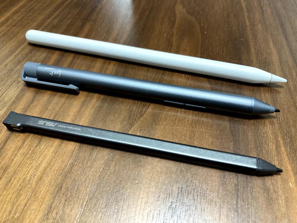 Applepencil、ワコム・ASUSスタイラスペン