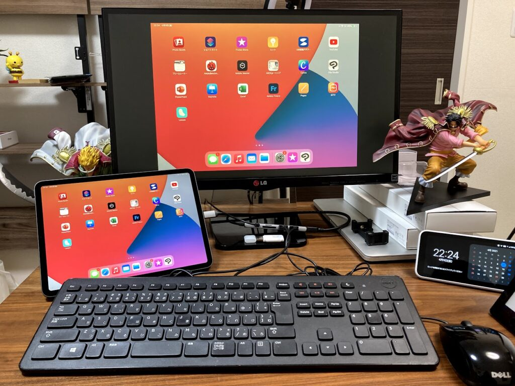 iPadのデュアルモニター